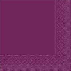 Tissue-Serviette 25x25 cm; 1000 Stück im Karton; Farbe: AUBERGINE