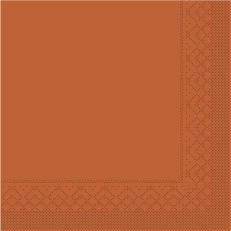Tissue-Serviette 25x25 cm; 1000 Stück im Karton; Farbe: TERRAKOTTA