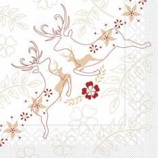Tissue-Serviette LEONARD BEIGE-BORDEAUX 33x33 cm; 800 Stück im Karton