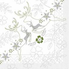 Tissue-Serviette LEONARD GRAU-GRÜN 33x33 cm; 800 Stück im Karton