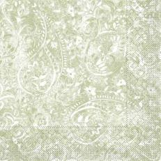 Servietten aus Tissuewatte 3-lagig FELICIA OLIV 40x40 cm 1/4 Falz