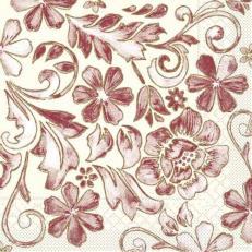 Tissue Serviette GEORG BORDEAUX 40 x 40 cm; 1200 Stück im Karton