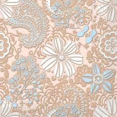 Tissue Serviette GWENN BRAUN-HELLBLAU 40 x 40 cm; 1200 Stück im Karton