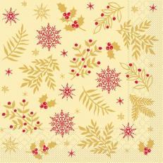 Tissue-Serviette ALVIN CREME 33 x 33 cm