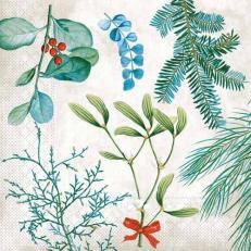 Tissue-Serviette AMARYLLIS 33 x 33 cm