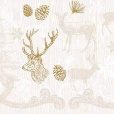Tissue-Serviette BRUNO braun-gold 33x33 cm; 800 Stück im Karton