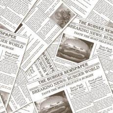 Tissue-Serviette NEWSPAPER GRAU 33 x 33 cm