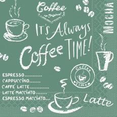 Tissue-Serviette COFFEE TIME ANTHRAZIT 33 x 33 cm