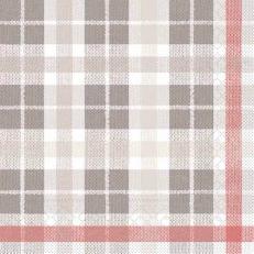 Tissue-Serviette FRED GRAU-ROT 33 x 33 cm