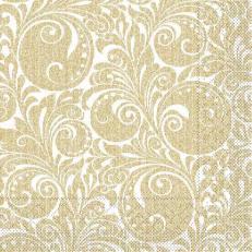Tissue-Serviette JORDAN gold 40x40 cm; 1200 Stück im Karton