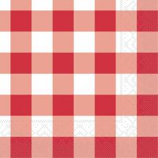 Tissue-Serviette KARO ROT 25x25 cm
