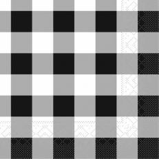 Tissue-Serviette KARO SCHWARZ 25x25 cm