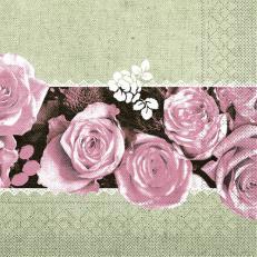 Tissue-Serviette LOVELY ROSES ROSA 33 x 33 cm