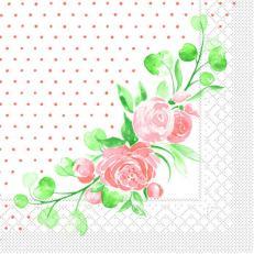Tissue-Serviette MARGIT APRIKOT 33 x 33 cm