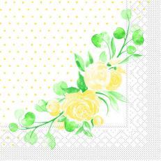 Tissue-Serviette MARGIT GELB 33 x 33 cm