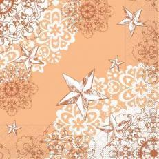 Tissue-Serviette STERNENSCHEIN aprikot-terrakotta 40x40 cm; 1200 Stück im Karton