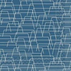 Tissue-Serviette TARIK BLAU 33 x 33 cm