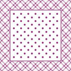 Untersetzer ANTONIA BEERE 90 x 90 mm aus Tissue+PE, 1000 Stück im Karton