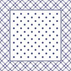 Untersetzer ANTONIA BLAU 90 x 90 mm aus Tissue+PE, 1000 Stück im Karton