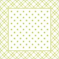 Untersetzer ANTONIA LIME 90 x 90 mm aus Tissue+PE, 1000 Stück im Karton