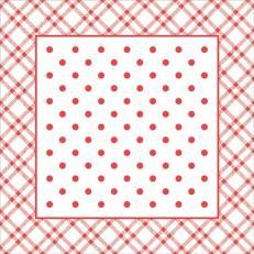 Untersetzer ANTONIA ROT 90 x 90 mm aus Tissue+PE, 1000 Stück im Karton