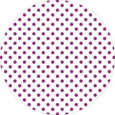 Untersetzer ANTONIA-PUNKTE BEERE 90 mm rund aus Tissue+PE, 1000 Stück im Karton