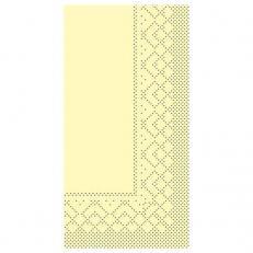 Zelltuch-Serviette 33 x 33 cm; 2-lagig; 1/8 Falz; 1280 Stk. im Karton; Farbe: CHAMPAGNE