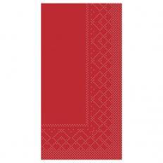 Zelltuch-Serviette 33 x 33 cm; 2-lagig; 1/8 Falz; 1280 Stk. im Karton; Farbe: ROT