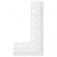 Zellstoff-Serviette weiß 33 x 33 cm; 3-lagig; 1/8 Falz; 1600 Stk. im Karton