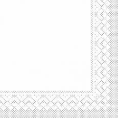 Zellstoff-Serviette weiß 33 x 33 cm; 3-lagig; 1/4 Falz; 1500 Stk. im Karton