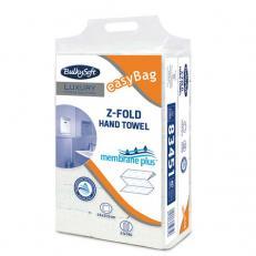 Papierhandtuch membrane plus Z-Falz, 3-lagig, hochweiß, 2940 Stück im easyBag