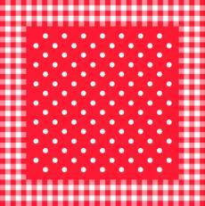 Airlaid+Folie-Mitteldecken 80 x 80 cm; 50 Stück im Karton; Typ: ANTON rot