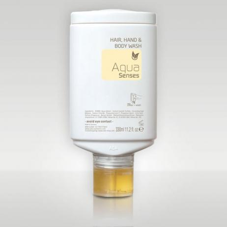 Aqua Senses 3-in-1 Hand-, Haar- & Körpershampoo, 30 x 330ml im Karton