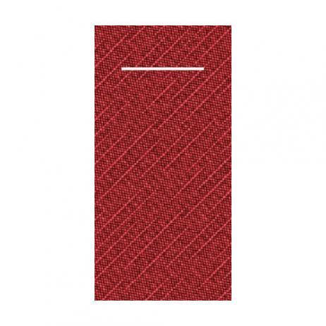 Besteckserviette aus Tissue-Deluxe BORDEAUX