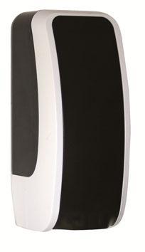 Schaumseifenspender COSMOS, schwarz/ weiss