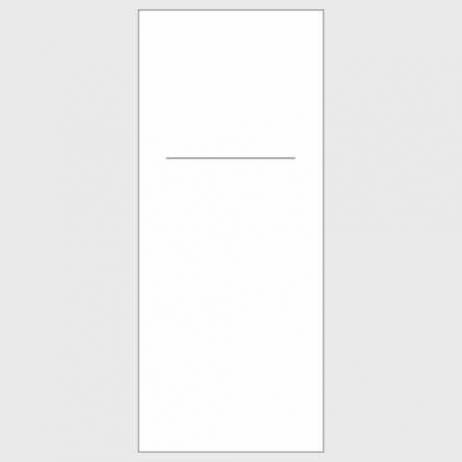 Besteckserviette XL aus Linclass WEISS 48 x 48 cm 1/8-Falz