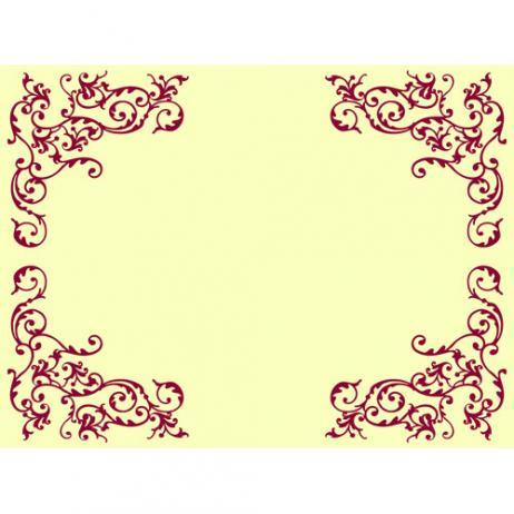 Tischset POMP CREME-BORDEAUX 40 x 30 cm aus Linclass