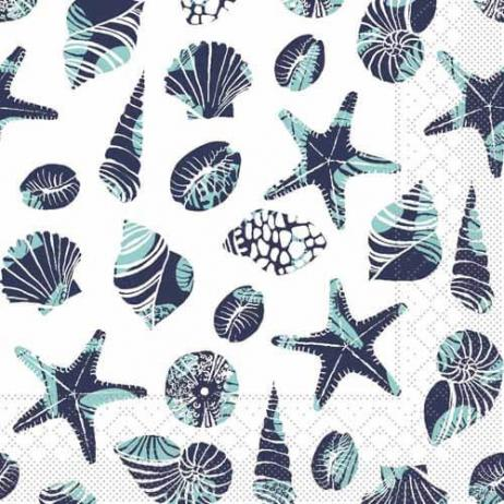 Tissue-Serviette BEACH BLAU 33 x 33 cm