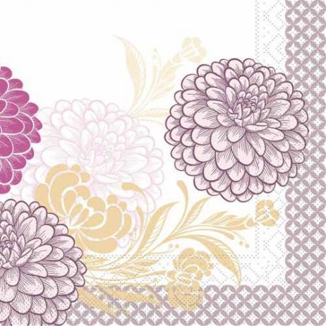 Tissue-Serviette CLARISSA VIOLETT 33 x 33 cm