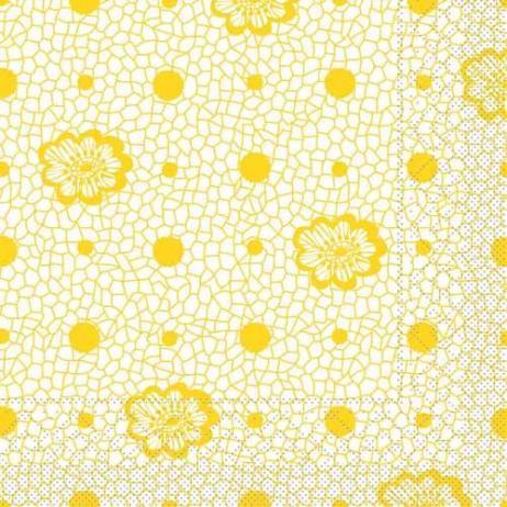 Tissue-Serviette DION GELB 33 x 33 cm