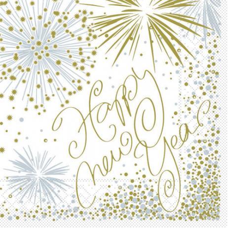 Tissue-Serviette HAPPY NEW YEAR 33 x 33 cm